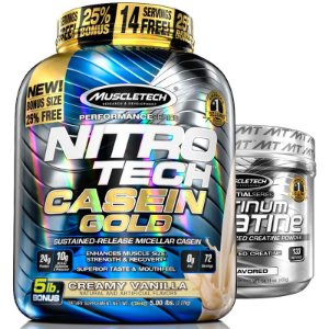 Kit Nitro tech Caseína e Creatina Muscletech 2,3kg Baunilha