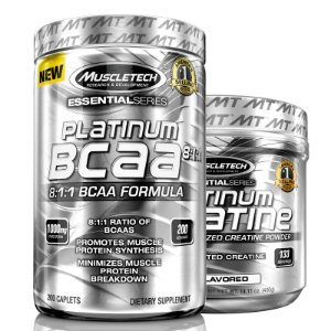 Kit Platinum Bcaa 8:1:1 200 tablets e Creatina Muscletech