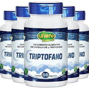 Kit 5 L-Triptofano da Unilife - 60 cápsulas