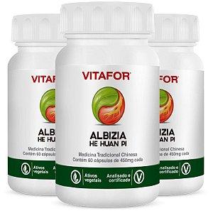 Kit 3 Albizia 450mg 60 Cápsulas MTC Vitafor