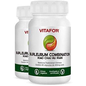 Kit 2 Bupleurum Combin 400mg 60 cápsulas MTC Vitafor
