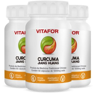 Kit 3 Curcuma 1000mg 60 Softgels 60g MTC Vitafor