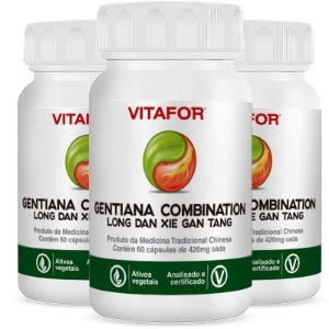 Kit 3 Gentiana combination 420mg 60 Cápsulas MTC Vitafor