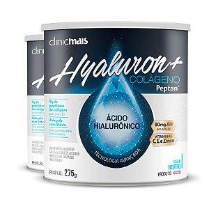 Kit 2 Hyaluron+ Colágeno com Ácido Hialurônico ClinicMAIS 275g