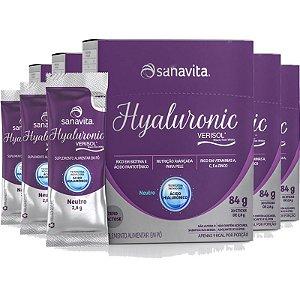 Kit 5 Hyaluronic ácido hialurônico com colágeno verisol da Sanavita 30 sachês