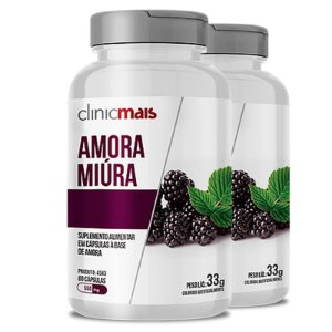 Kit 2 Amora Miura 500mg ClinicMais 60 cápsulas