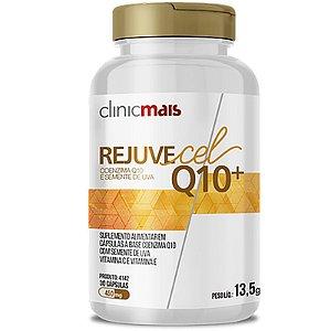Rejuvecel Q10+ Coenzima Q10 e Semente de Uva ClinicMais 30 cápsulas