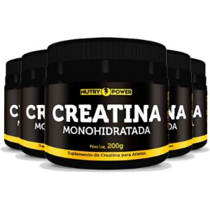 Kit 5 Creatina Monohidratada Apisnutri - Nutry Power 200g