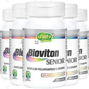 Kit 5 Bioviton SENIOR Complexo Polivitamínico 60 cápsulas Unilife