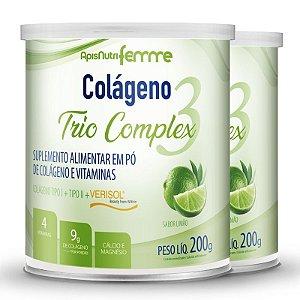 Kit 2 Colágeno tipo 2 + 1 Verisol Trio complex Apisnutri limão 200g