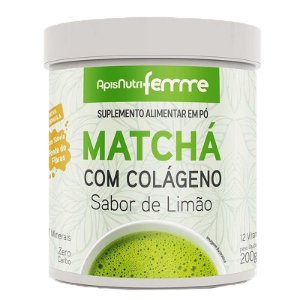 Matchá Solúvel Apisnutri Sabor Limão 200g