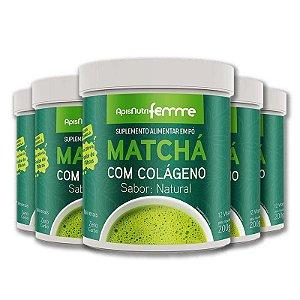 Kit 5 Matchá Solúvel Apisnutri Sabor Natural 200g