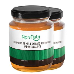 Kit 2 Composto de Mel sabor Eucalipto Apisnutri 300g