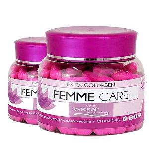 Kit 2 Colágeno Femme Care Bovino verisol Unilife 90 Cápsulas