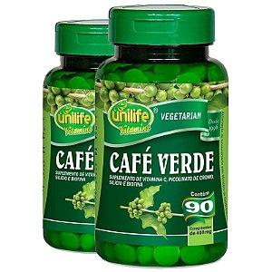 Kit 2 Café Verde 400mg Unilife 90 cápsulas