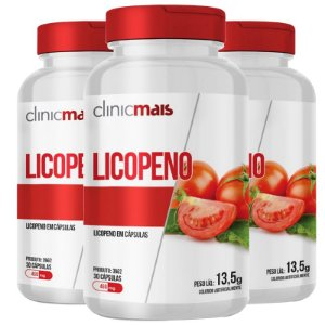 Kit 3 Licopeno Vitamina E 450mg Chá Mais 30 cápsulas