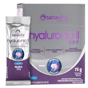 Hyaluronic Joint 2 II Ácido Hialurônico + MSM 900MG + Colágeno Tipo 2 Sanavita