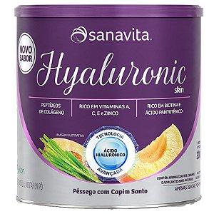 Hyaluronic Skin Ácido Hialurônico + Colágeno Sanavita Pêssego 300g