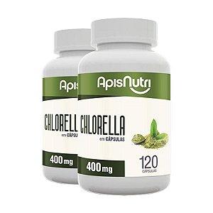 Kit 2 Chlorella Clorela Apisnutri 120 cápsulas