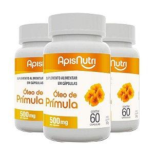 Kit 3 Óleo de Prímula 500mg Apisnutri 60 cápsulas