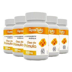 Kit 5 Óleo de Prímula 500mg Apisnutri 60 cápsulas