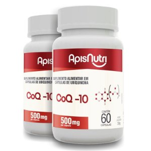 Kit 2 Coenzima Q-10 500mg Apisnutri 60 cápsulas