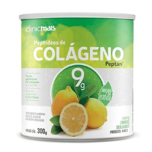 Colágeno Hidrolisado Peptan 9g Clinic Mais Limão Siciliano