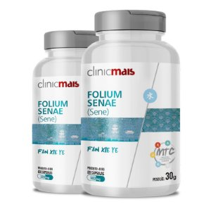 Kit 2 Sene Folium Senae 500mg MTC Clinic Mais 60 cápsulas