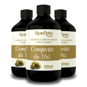 Kit 3 Composto de Uxi Zinco e Vitamina A 500ml Apisnutri