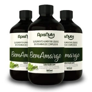 Kit 3 Bem Amargo Composto Vitaminico 500ml Apisnutri