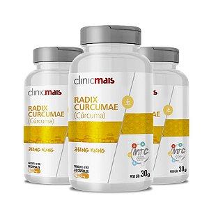 Kit 3 Curcuma Radix Curcumae 500mg MTC Clinic Mais 60 cápsulas