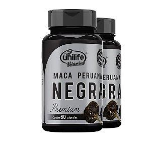 Kit 2 Maca Peruana Negra Premium Unilife 60 cápsulas