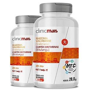 Kit 2 Valeriana + Mulungu 480mg MTC Clinic Mais 60 cápsulas