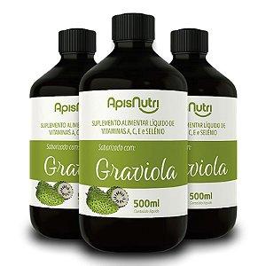 Kit 3 Composto Vitamínico de Graviola 500ml Apisnutri
