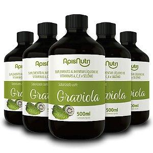Kit 5 Composto Vitamínico de Graviola 500ml Apisnutri