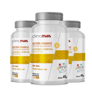 Kit 3 Citrus Aurantium + Garcinía 480mg MTC Clinic Mais 90 cápsulas