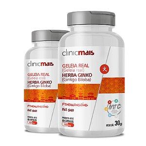 Kit 2 Geleia Real + Herba Ginko 500mg MTC Clinic Mais 60 cápsulas