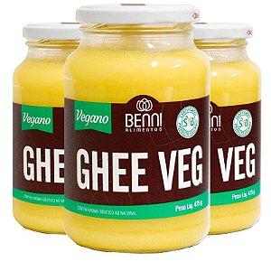 Kit 3 Manteiga Ghee Vegano Benni 475g Tradicional