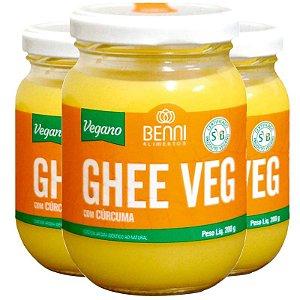 Kit 3 Manteiga Ghee Vegano Benni 200g Cúrcuma