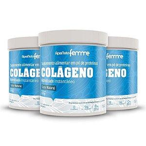 Kit 3 Colágeno Hidrolisado Beauty Complex Apisnutri 200g Neutro