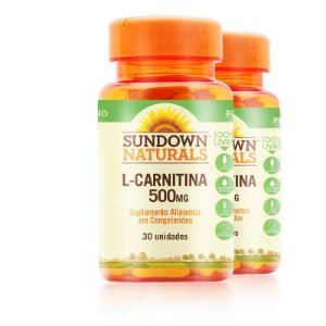 Kit 2 L- Carnitina 500MG Sundown Naturals 30 comprimidos