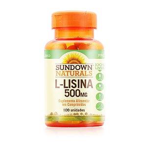 L-Lisina 500mg Sundown Naturals 100 comprimidos
