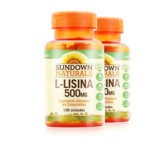 Kit 2 L-Lisina 500mg Sundown Naturals 100 comprimidos