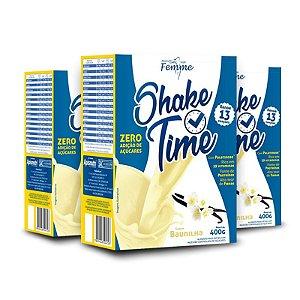 Kit 3 Shake Time Substituto de Refeição Apisnutri 400g Baunilha