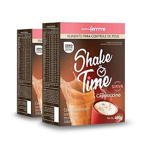 Kit 2 Shake Time Substituto de Refeição Apisnutri 400g Cappuccino