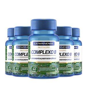 Kit 5 Complexo B Catarinense Pharma 60 Cápsulas