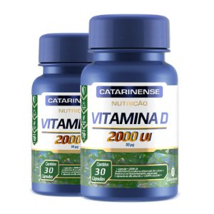 Kit 2 Vitamina D 2000ui Catarinense 30 cápsulas