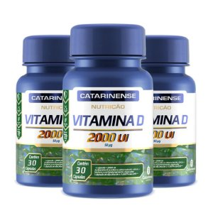 Kit 3 Vitamina D 2000ui Catarinense 30 cápsulas