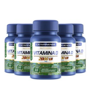 Kit 5 Vitamina D 2000ui Catarinense 30 cápsulas