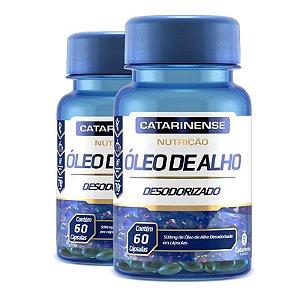 Kit 2 Óleo de Alho Desodorizado Catarinense 60 cápsulas